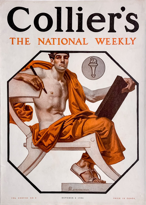 J.C. Leyendecker illustration on the cover of Collier's, 1906