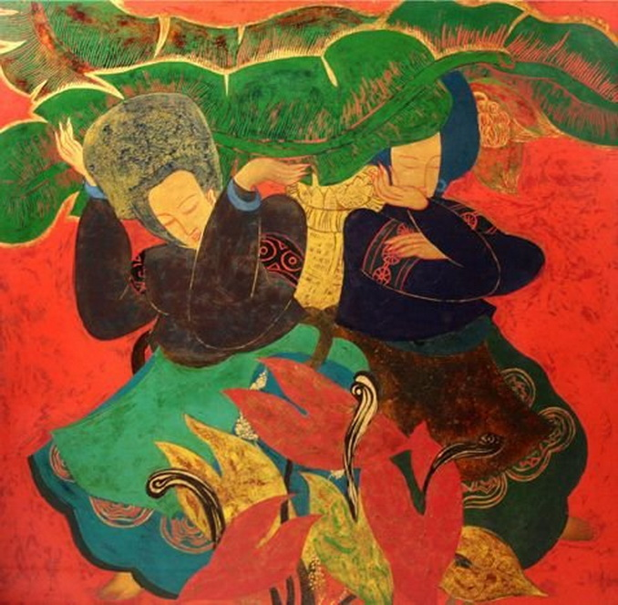 """""""Love of the Sisters"""" by Vietnamese artist Nguyen Lan Huong,2009"""
