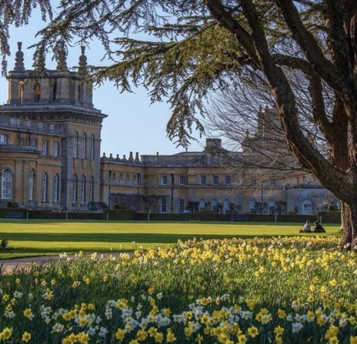 English manor inSpring