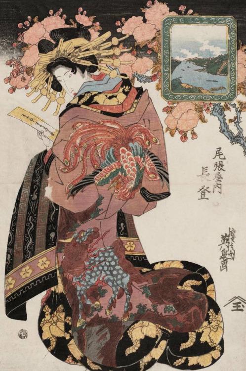 """Nagato of the Owariya"" by Keisai Eisen, early1800s"