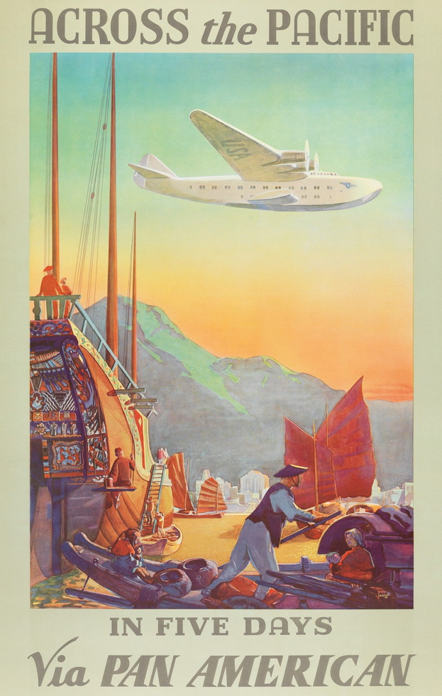 Across the Pacific in 5 days,1930s
