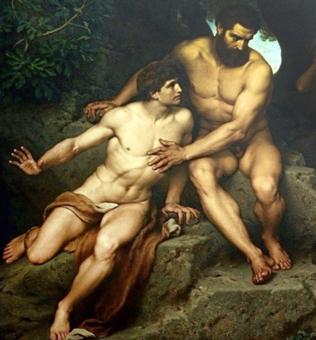 """Prometheus and Epimetheus before Pandora"" by Hermann Julius Schlösser,1878"