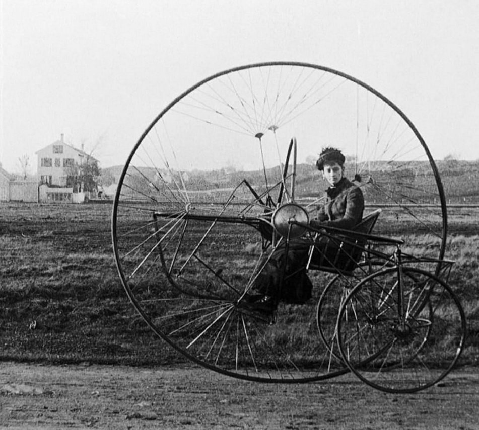 Penny farthing tricycle,1880s