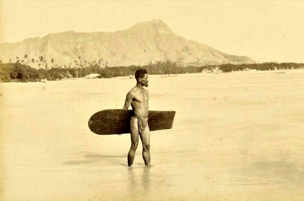 Surfer, Hawaii, 1890s