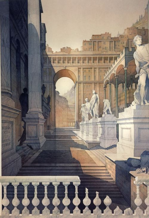 """""""A Roman Stage Set"""" by Thomas WellsSchaller"""