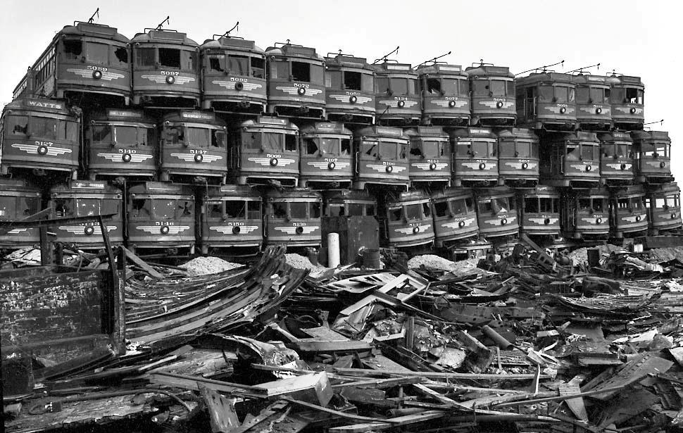 Tram trash heap
