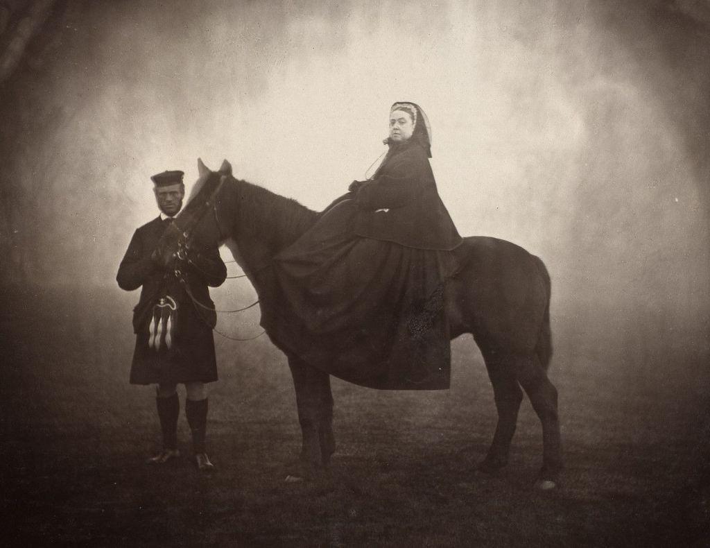 Queen Victoria on ahorse