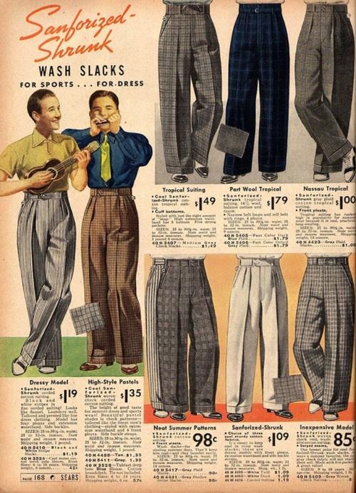 1930s Men's Pants