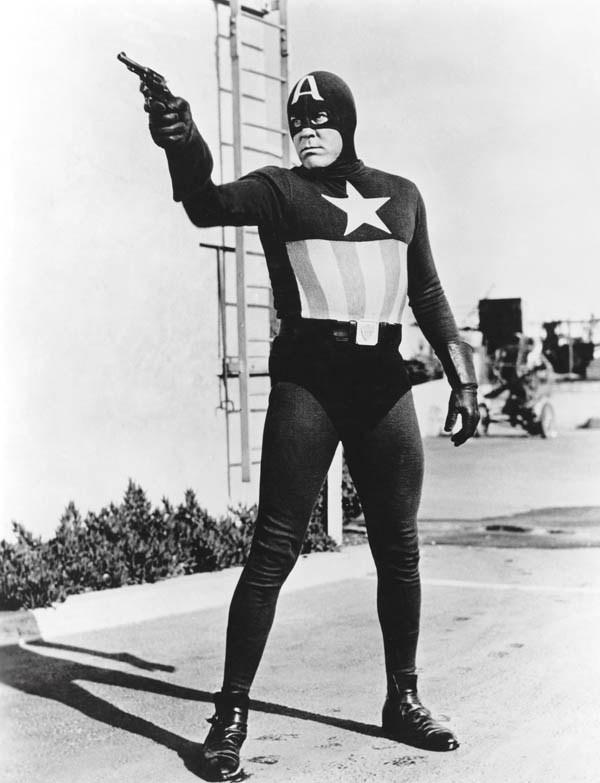 Captain America with a handgun,1944