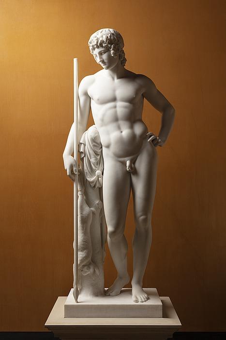 Adonis, by  Danish neoclassicistic sculptor BertelThorvaldsen