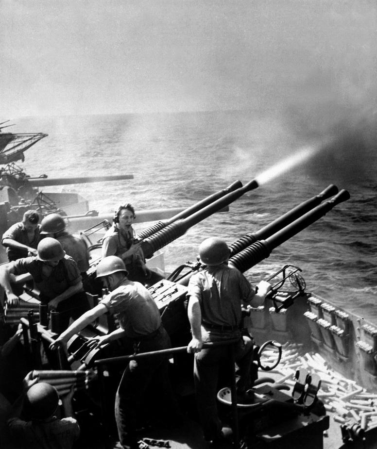 Firing the big guns,WWII