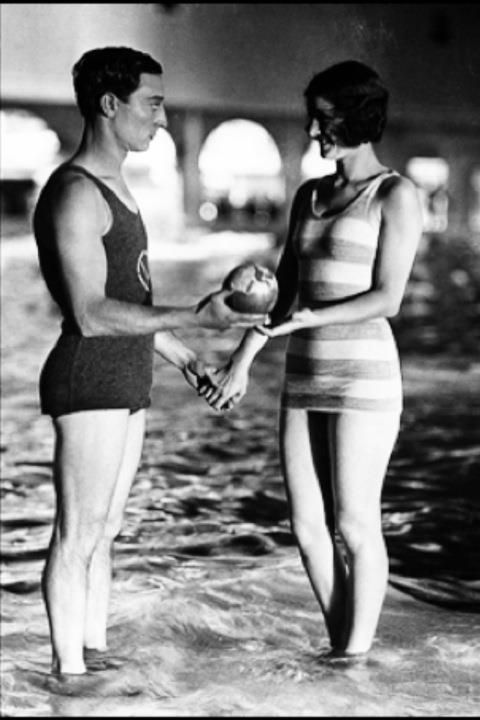 """Buster Keaton and Marceline Day in """"The Cameraman"""", 1928"""