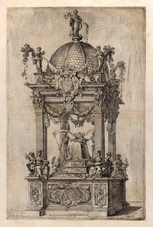 Design for the catafalque of King Philip IV ofSpain