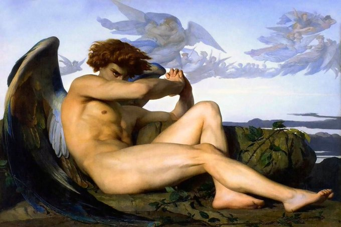 """Fallen Angel"" by Alexandre Cabanel, France,1847"