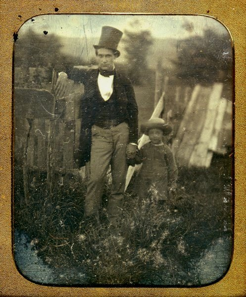 Father and child,1800s