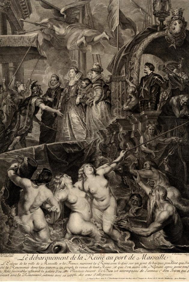 Le Debarquement de la Reine (Marie de Medici) au Port de Marseille,1600s