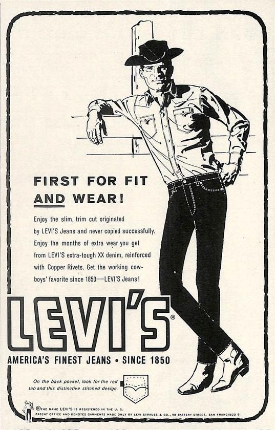 Levi's ad, circa1960