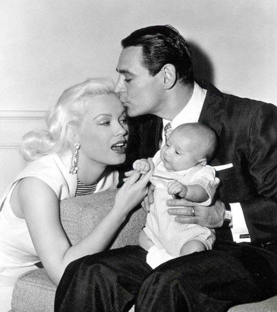 Mamie Van Doren and family,1950s