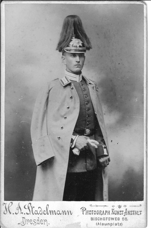 Prussian nobleman who did not get the memo that the wig is supposed to go UNDER thepickelhaube