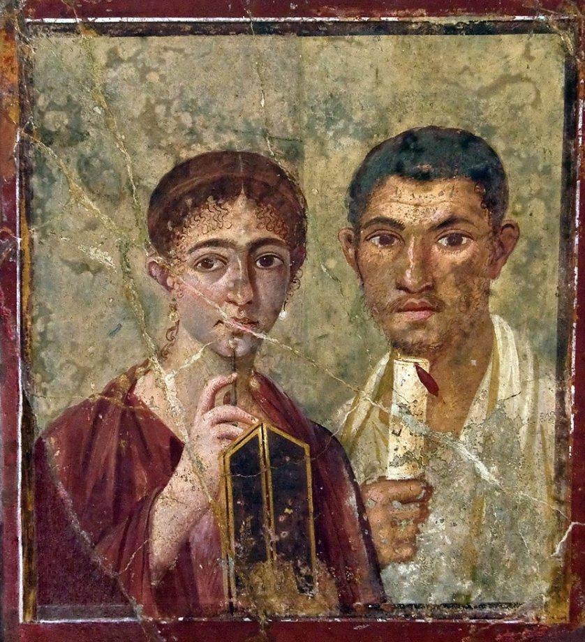Fresco of a wife and husband,Pompeii