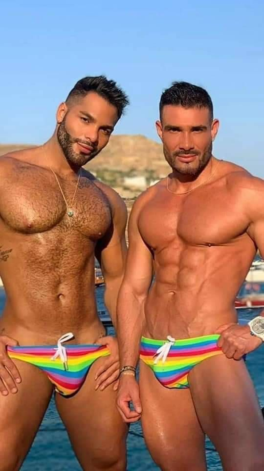 Gay pride swimwear