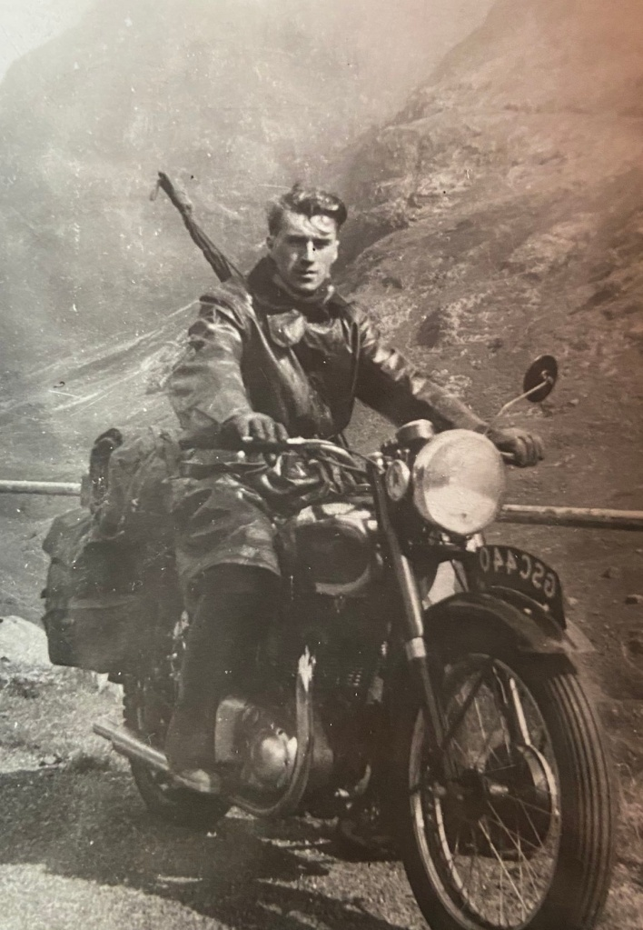 Canadian soldier on motorcycle,WWII