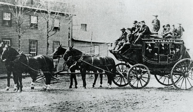 Stagecoach, Michigan, 1800s