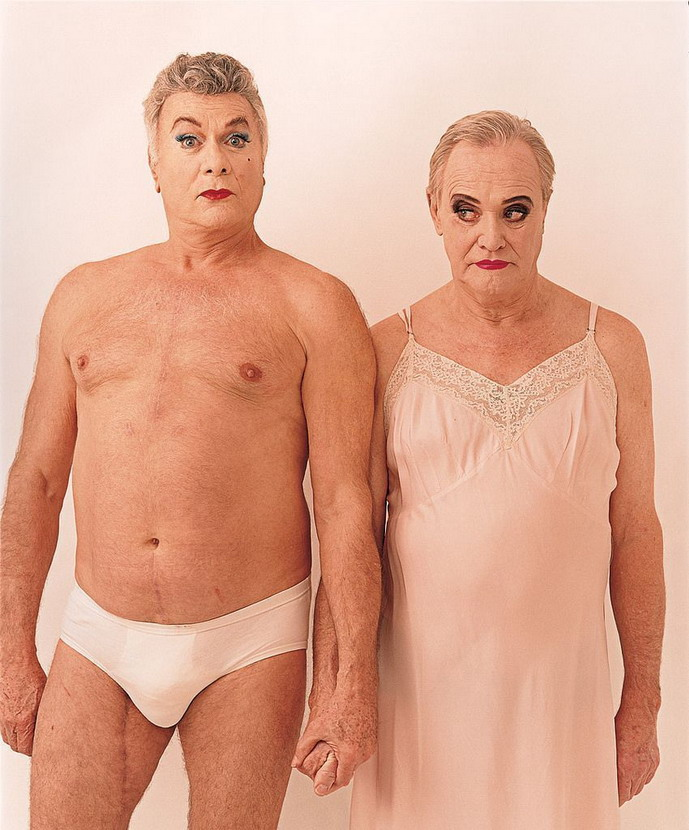 """Tony Curtis and Jack Lemmon 36 years after filming """"Some Like It Hot"""", by Annie Leibovitz,1995"""