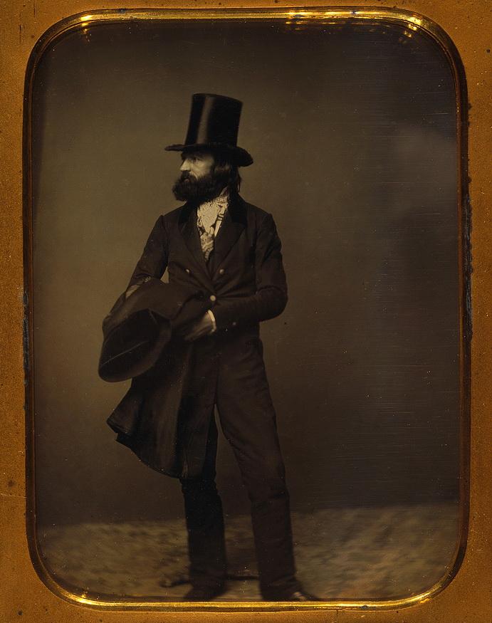 Gentleman wearing a top hat,1800s