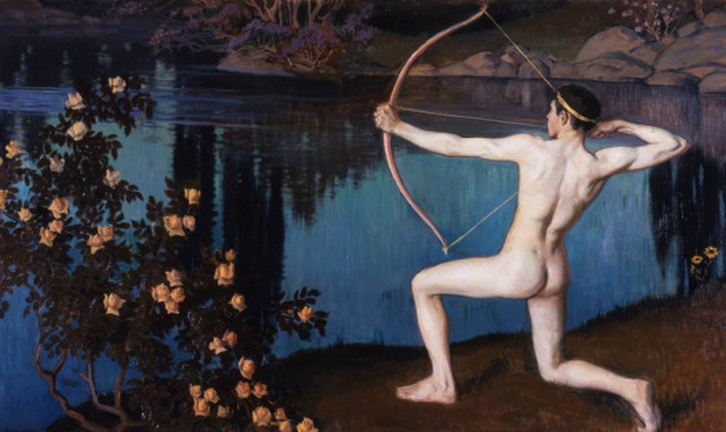 """""""The Archer"""" by Vaino Alfred Blomstedt, Finland,1898"""