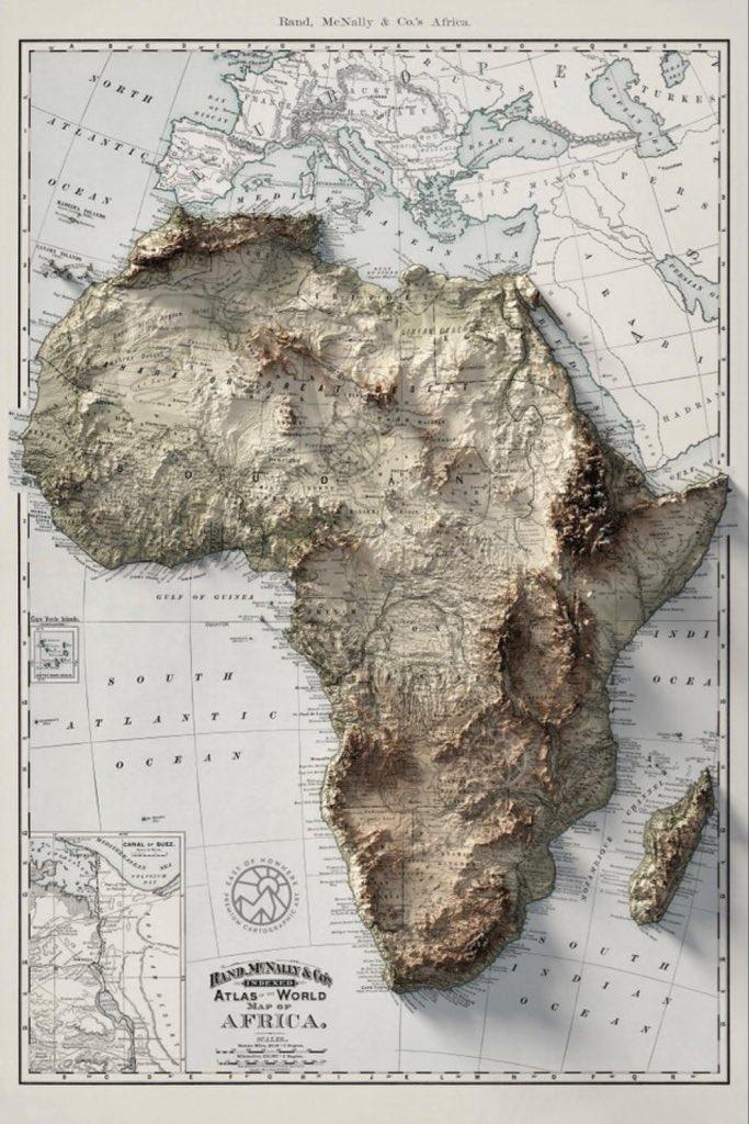 Topo map ofAfrica