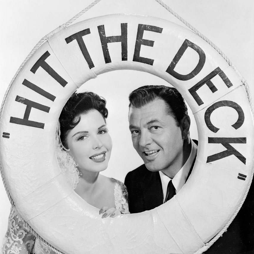 """Ann Miller and Tony Martin in a promo for """"Hit theDeck!"""""""