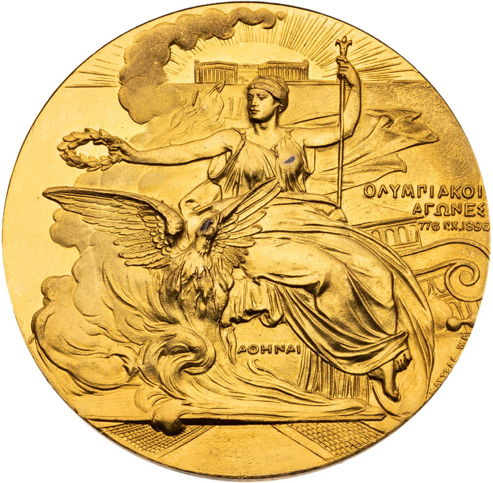 Gold medal from the 1898 AthensOlympics