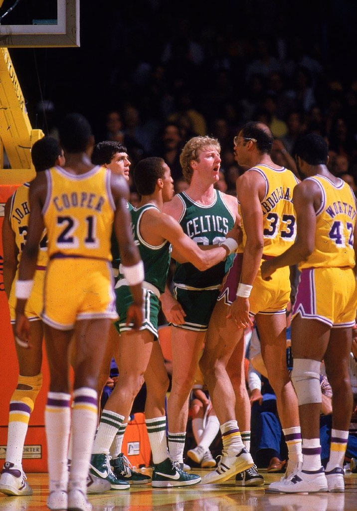 A whole lot of basketball talent wearing short shorts,1980s