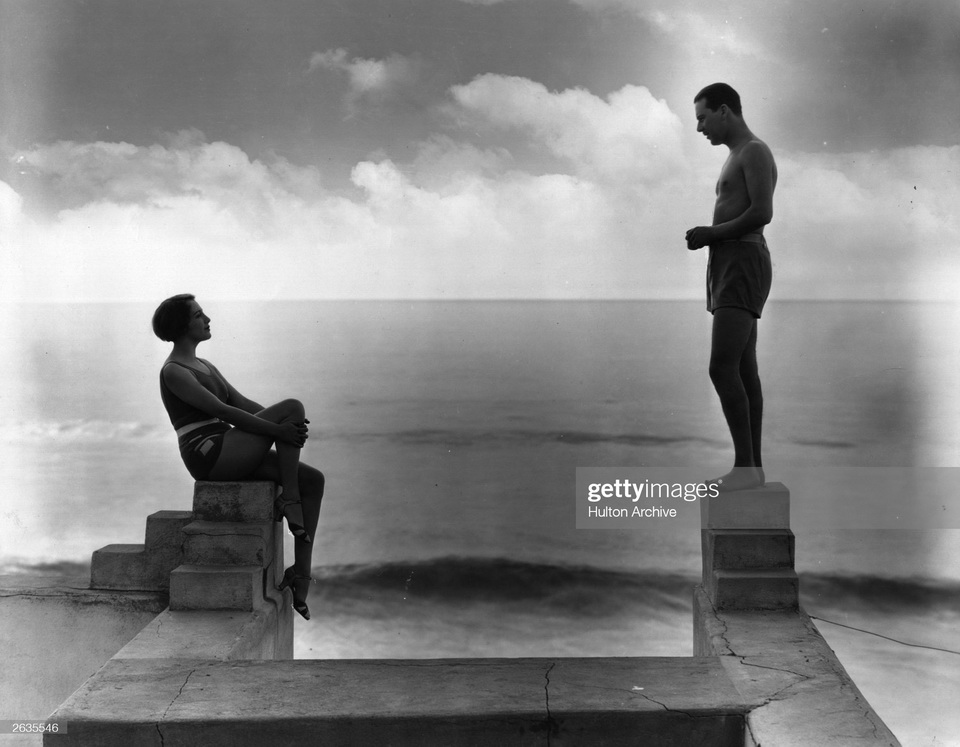 Bebe Daniels and Ben Lyon at their California beach home,1920s