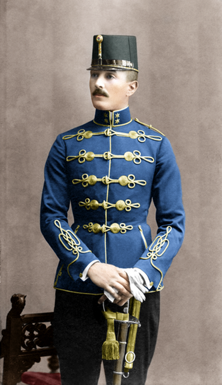 Béla Békessy, Hungarian officer in the Austro-Hungarian Army and Olympic swordsman,1916