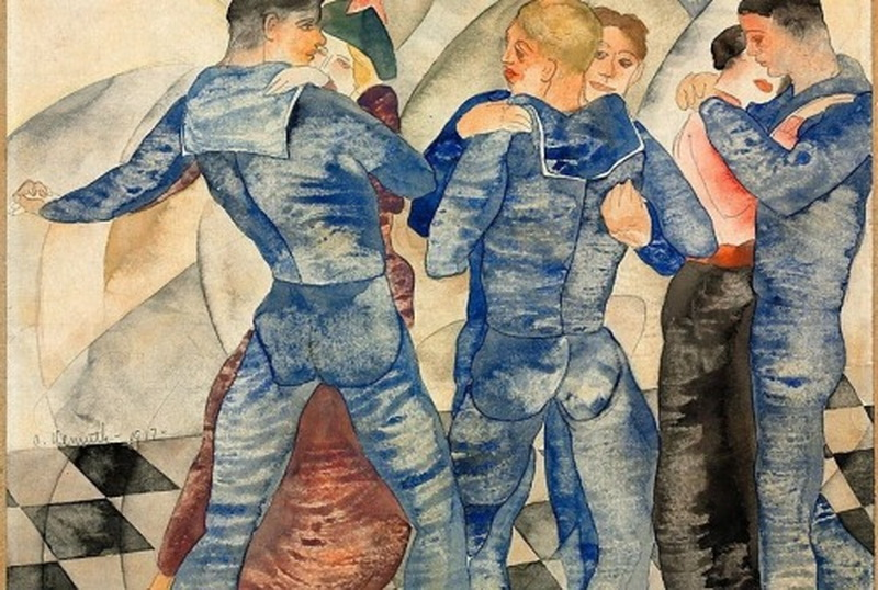 """""""Dancing Sailors"""" by Charles Demuth,1917"""