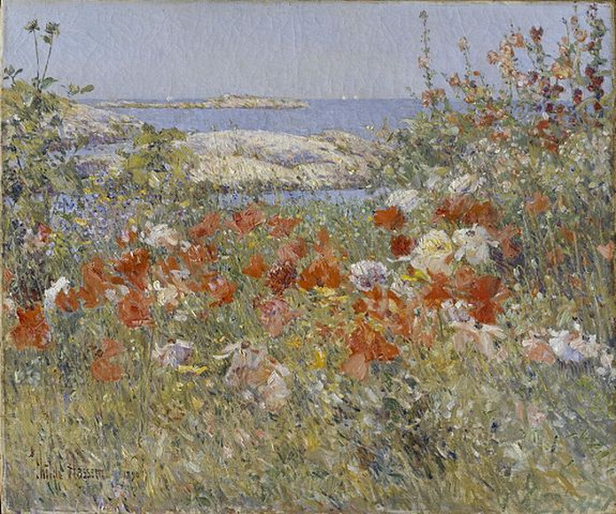 Seaside garden, painting by Childe Hassam, US,1890s