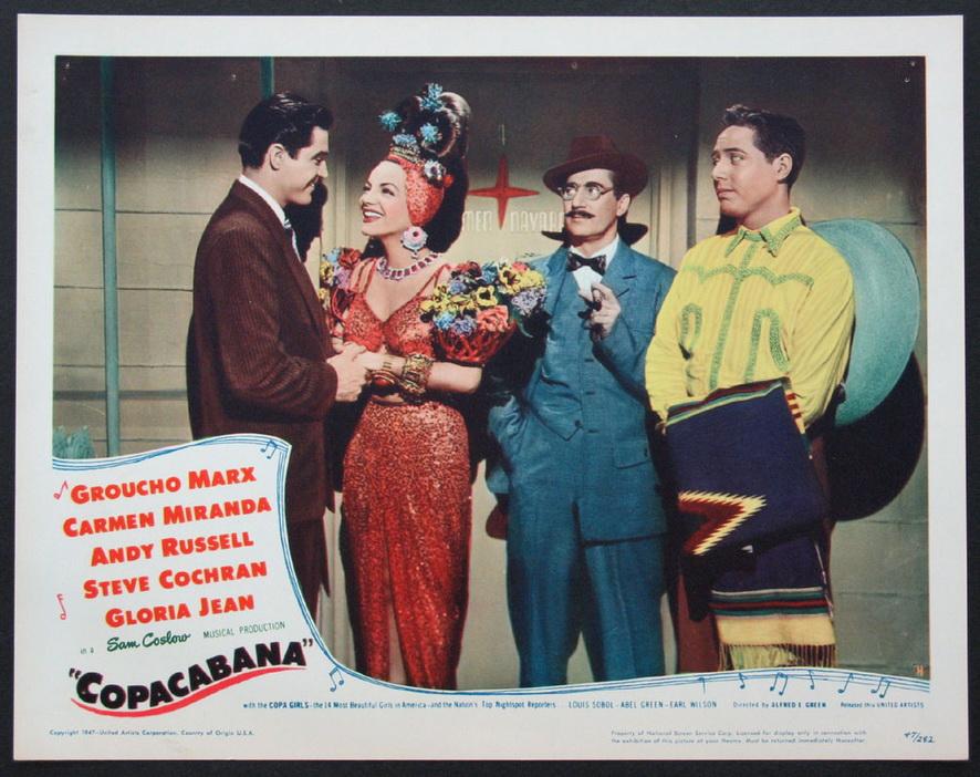 "Groucho Marx and Carmen Miranda in ""Copacabana"""
