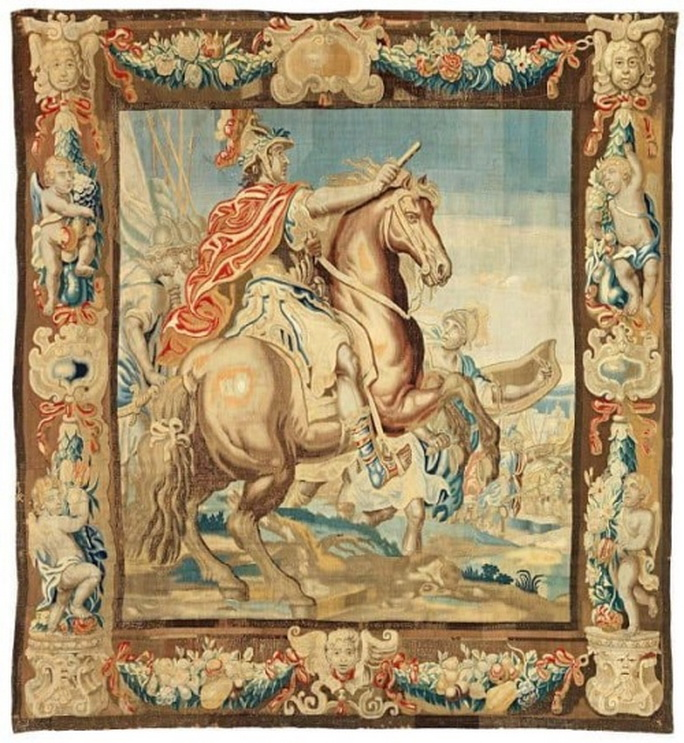 Flemish Tapestry, possibly of Alexander the Great,1600s