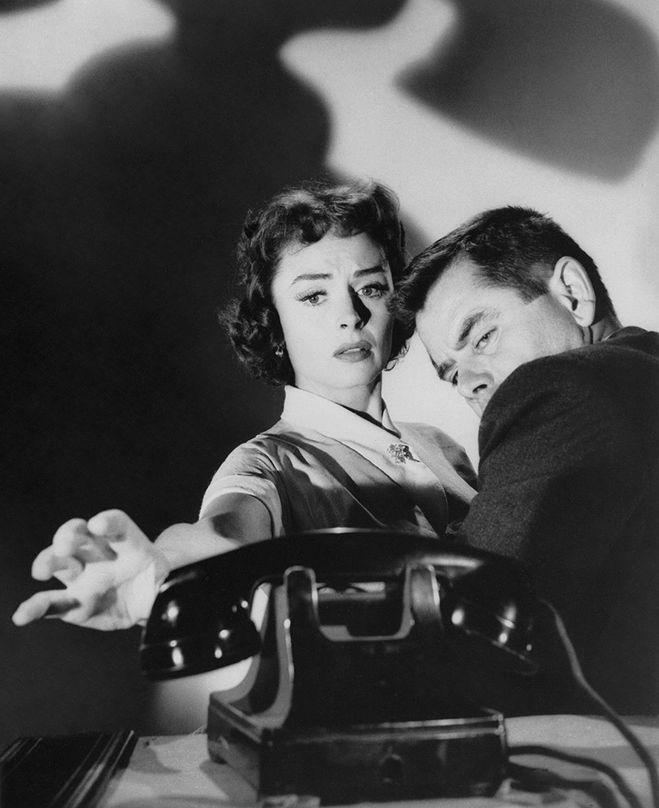 """Glenn Ford and Donna Reed in """"Ransom!', 1956"""