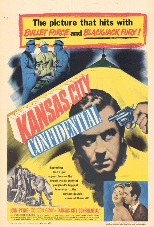 """John Payne in """"Kansas City Confidential"""", 1952"""