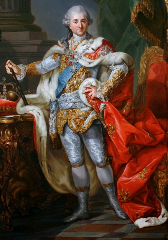 Marcello Bacciarelli's portrait of Stanisław August Poniatowski, Grand Duke of Lithuania and last king of Poland, dressed for his coronation,1764