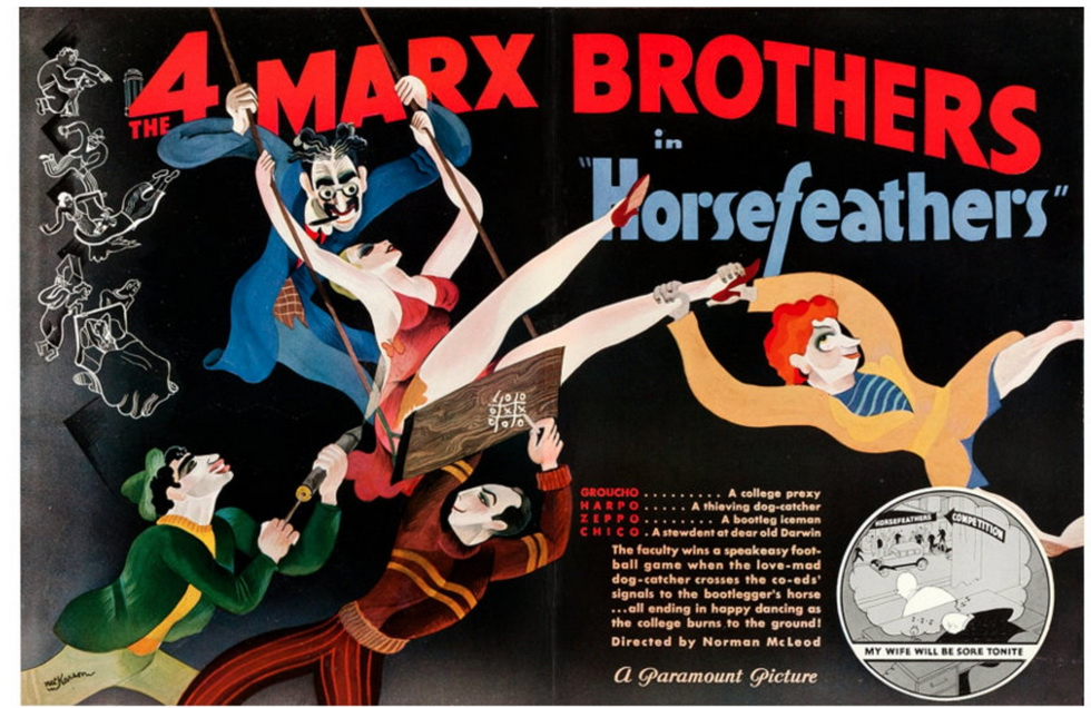 """The Marx Brothers in """"Horsefeathers"""""""