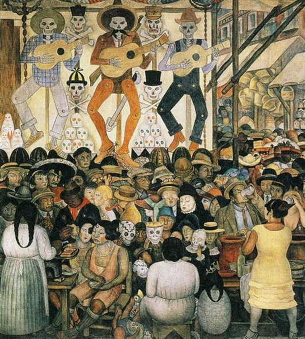 """""""The Day of the Dead"""" by Diego Rivera, México,1924"""