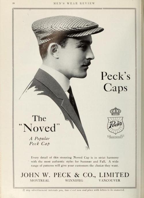 Peck's Caps, Canada,1910s