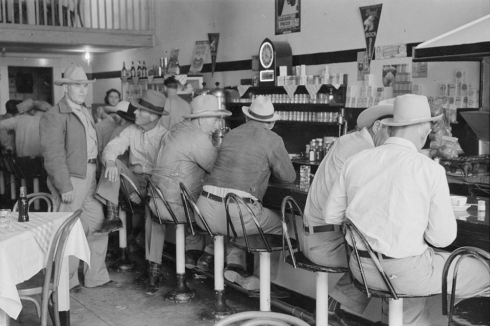 Diner in Junction, Texas,1940s