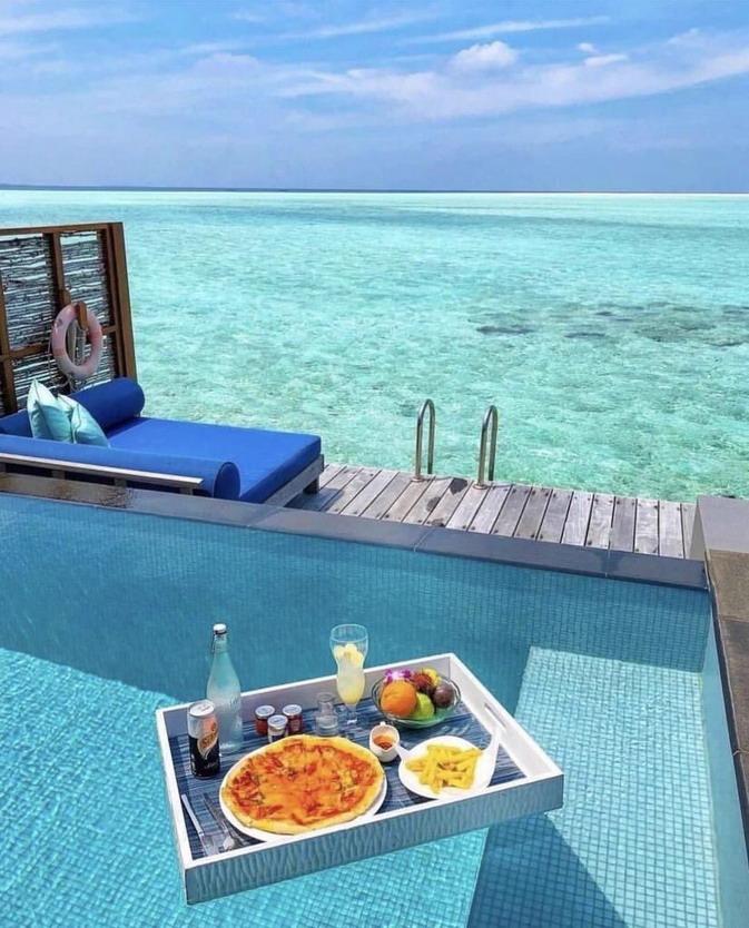 Tropical resort, Maldives