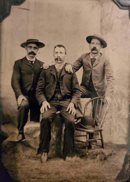 Three mustachioed men ofyore