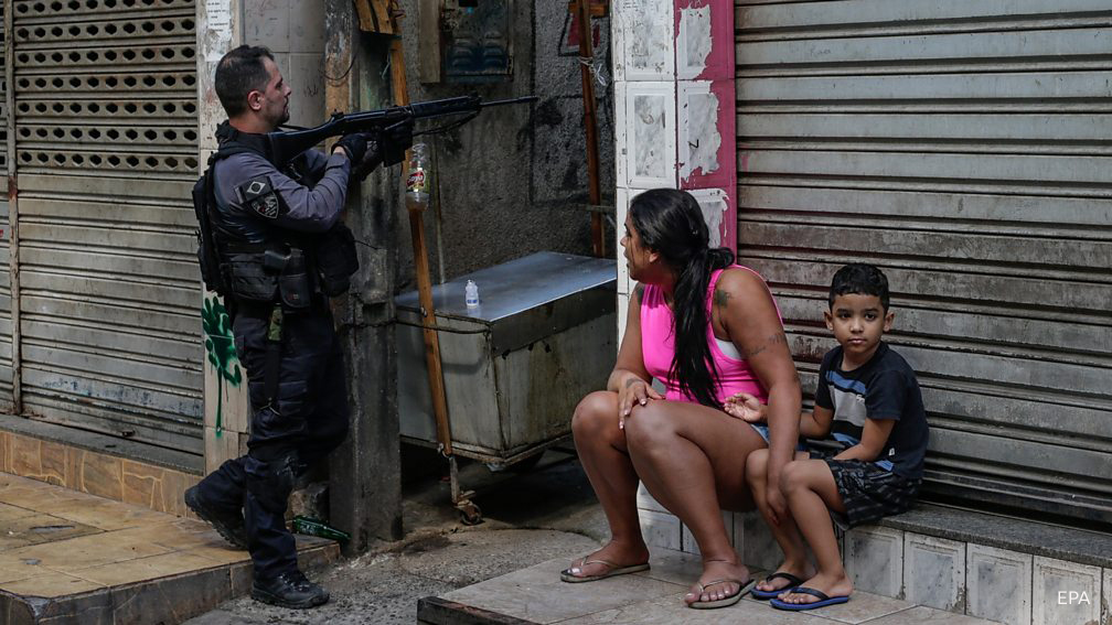Life in the favela,Brazil